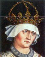 Alžběta Lucemburská, dcera Zikmunda Lucemburského, císaře římského, uherského a českého krále, slezského vévody, moravského, lužického a braniborského markraběte, manželka Albrechta II. Habsburského, krále římskoněmeckého, uherského a českého