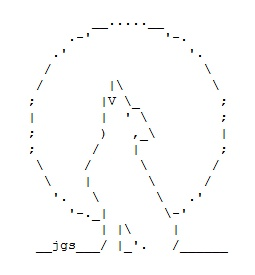 Wolf and Werewolf ASCII Art