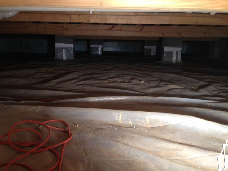 11 best crawl space vapor barrier images on pinterest for Crawl space plumbing