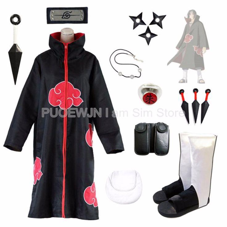 Anime Naruto Uchiha Itachi Cosplay Costume Suits Full Set