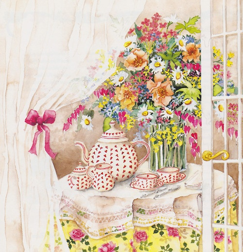 Come and share a pot of tea. My house is warm and my friendship is free.~ Emilie Barnes
