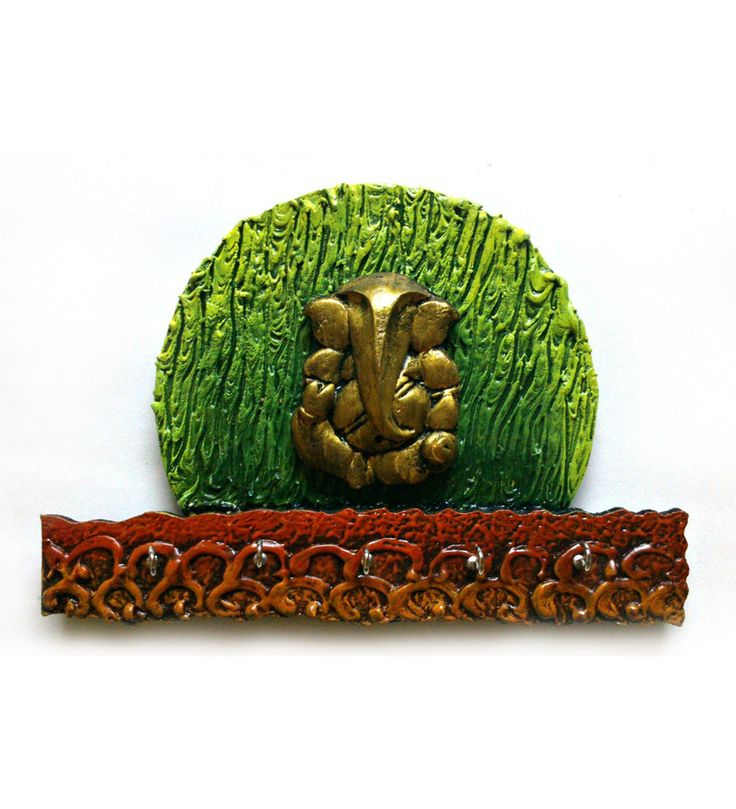 17 best images about pooja thali on pinterest copper for Mural key holder