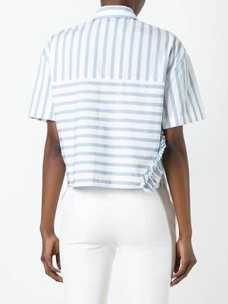 MSGM полосатая рубашка с короткими рукавами