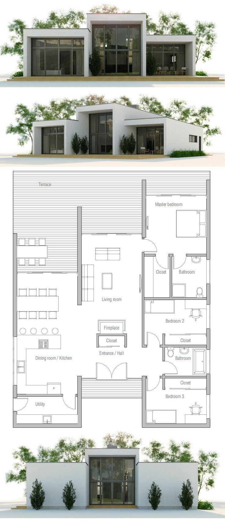 خطط منزلية مجانية Container House Plans Modern Minimalist House Minimalist House Design