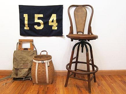 Bentwood Cane Seat Bar Stool - Three Potato Four: Bentwood Canes, Canes Seats, Design Ideas, Seats Bar, Kitchens Ideas, Baskets, Bar Stools, Three Potatoes