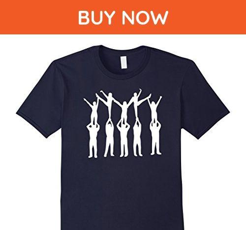Mens Cheerleading pyramid T-Shirt Medium Navy - Sports shirts (*Amazon Partner-Link)