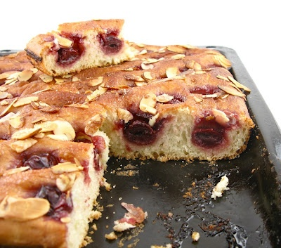 Cherry Almond Focaccia | Recipes to Make - Sweets | Pinterest