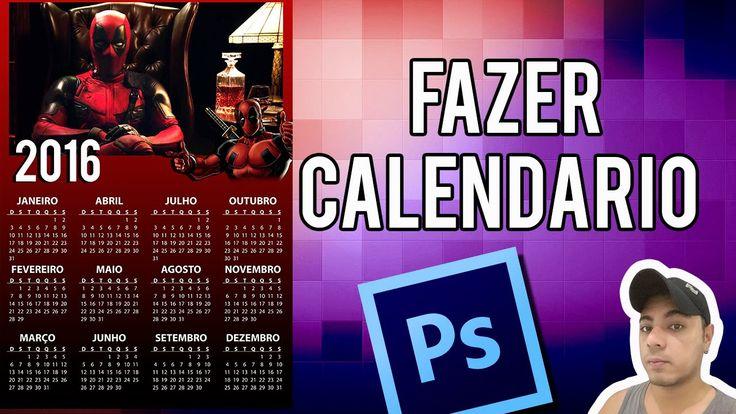 Como Fazer calendario Personalizado Dead Pool  no Photoshop