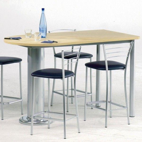 Table Snack Oblong Luros En Stratifié 150cm X 80cm