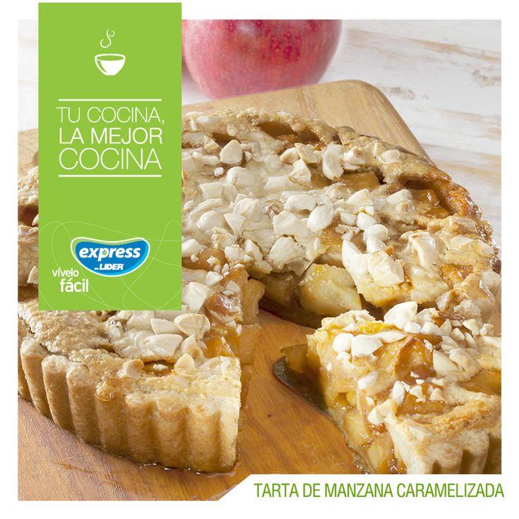Tarta de manzana caramelizada 🍎 #Receta #Recetario #RecetarioExpress #ExpressdeLider #Tarta #Manzana