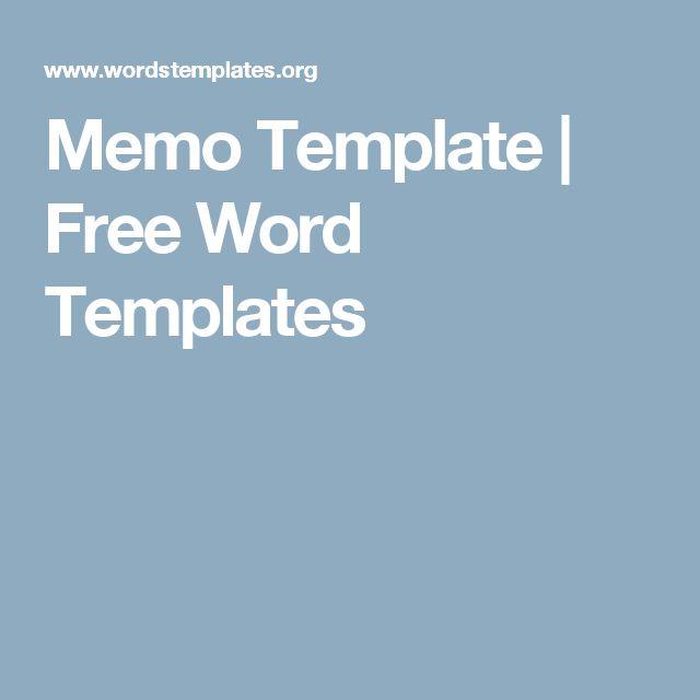 Memo Template | Free Word Templates