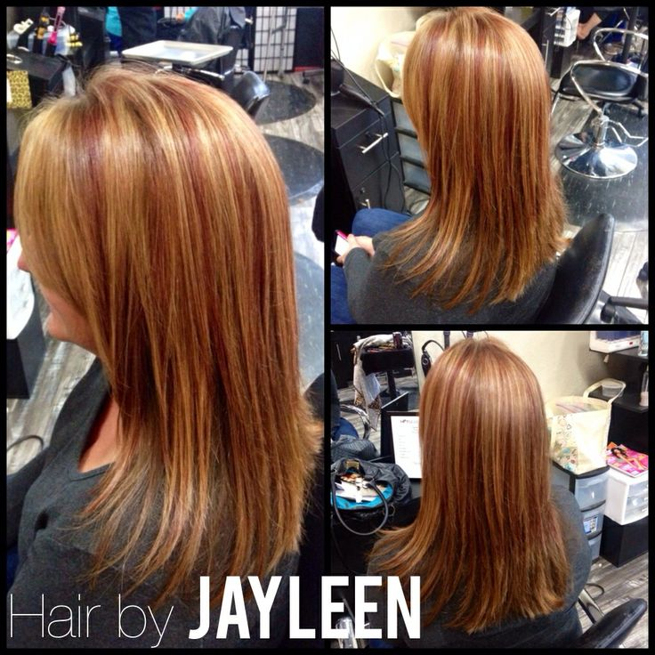 Copper red lowlights highlights | Hair by Jayleen ...