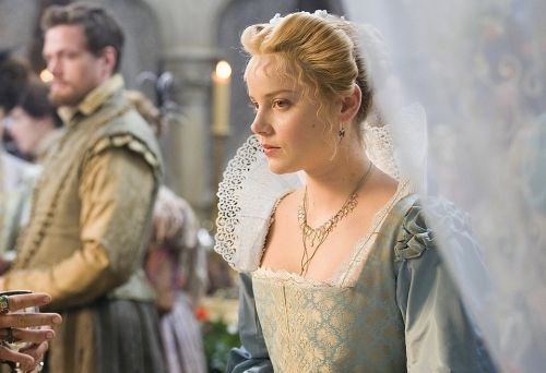 Abbie Cornish as Bess Throckmorton in Elizabeth -The Golden Age (2007). Rosamund‑Pike as Elizabeth Malet and Johnny Depp as Rochester...