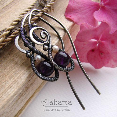 Borówki w kremie Biżuteria Kolczyki Alabama