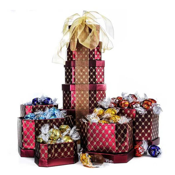 Buy Truffle Gift Tower at affordable rate. Choose from our wide range of Sympathy Baskets from ASecretAdmirer.com