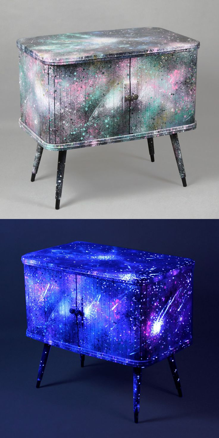 Hand-painted Galaxy cabinet