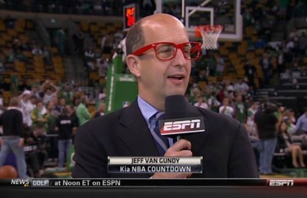 Jeff Van Gundy Wore Ridiculous Red Hipster Glasses Before the Heat/Celtics Game Last Night
