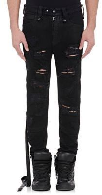 Ben Taverniti Unravel Project Men's Destroyed Jeans-BLACK