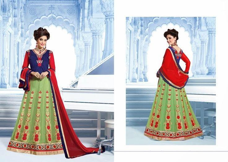 #Ghoomer Blue & Green #Ghagra #Choli
