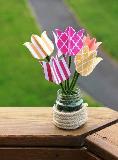 80 frische frühlingshafte ideen zum tulpen basteln und