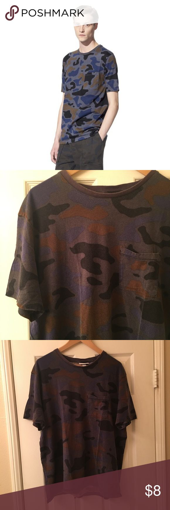 Philip Lim x target camo shirt Preowned XL Philip Lim x Target Collaboration with no rips and stains. Fading from washing but still a good look with the fade. Fits true to size for men but I've seen women wear and this is a limited edition run. 3.1 Phillip Lim for Target Shirts Tees - Short Sleeve
