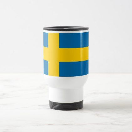 Sweden flag quality travel mug - decor diy cyo customize home