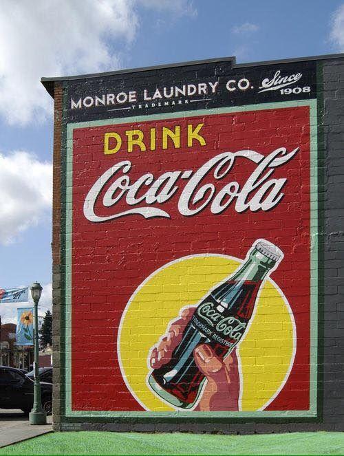 204 best images about coca cola murals on pinterest wall for Coca cola wall mural