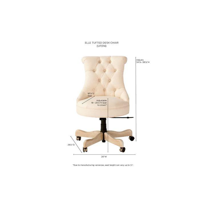Elle Tufted Desk Chair Ballard Designsmesasdesk Chairs