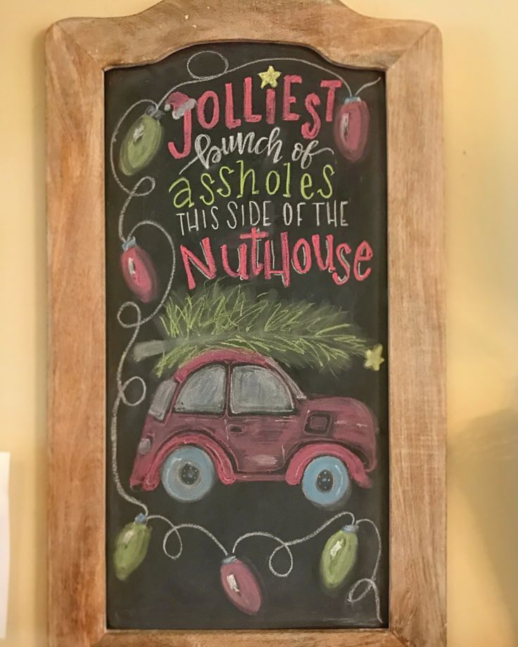 Christmas chalkboard art, Christmas Vacation quote
