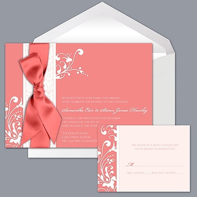 Image Detail for - Wedding Invitations · DB Exclusive Colors · Forever Color - Coral ...