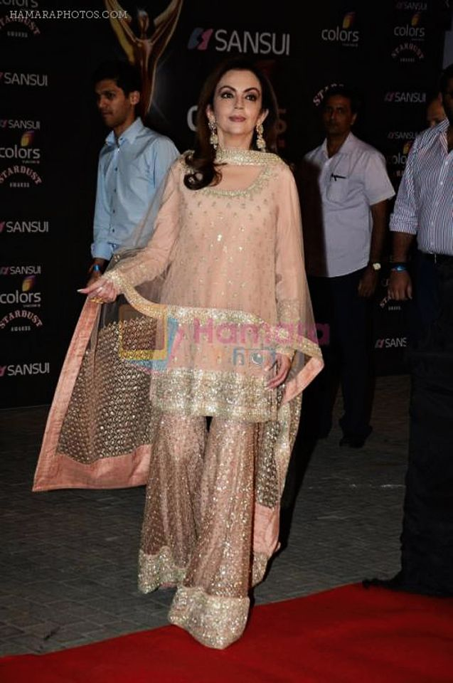 Nita Ambani in beautiful Peach Sharara Suit