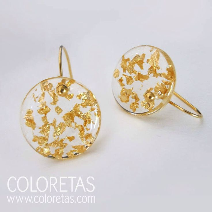 Golden Flakes hook earrings with sterling silver (925) - 18K gold filled hooks.