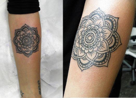 die besten 25 mandala fu tattoo ideen auf pinterest. Black Bedroom Furniture Sets. Home Design Ideas