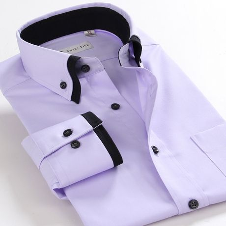 High quality french classic style men's long-sleeved dress shirt Ty850 | eBay