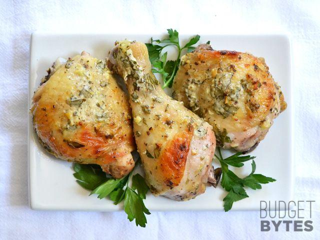 Griego pollo marinado