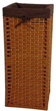 "Narrow 28"" Natural Fiber Laundry Hamper"