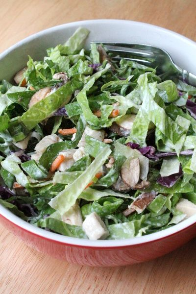 100 Calorie Giant Salad With Ranch Dressing 104-109 -1236