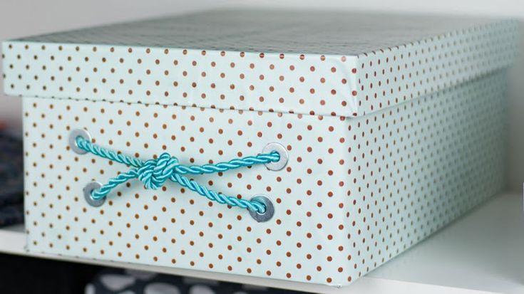 Tu Organizas.: Caixa gaveta organizadora DIY