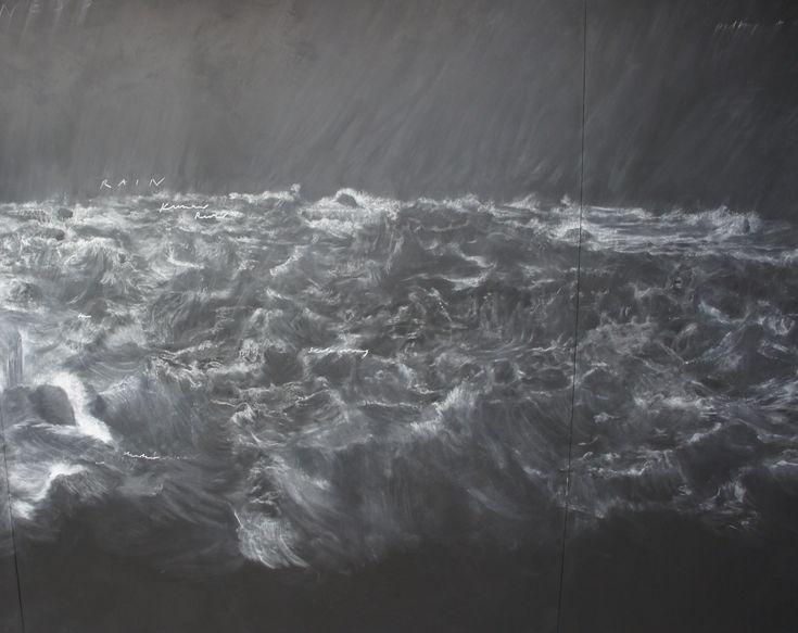 Documenta 13 /Kassel : Tacita Dean, Fatigues, 2012, chalk on black board