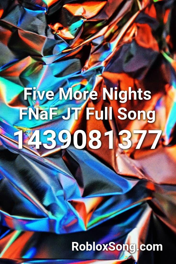 Fnaf 3 Song Roblox Id