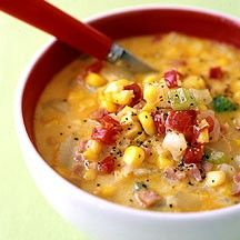 weight watchers corn, bacon, and potato chowder.