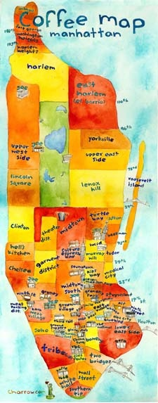 Coffee Map - Manhattan