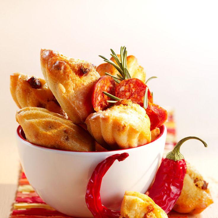 Madeleines au chorizo, facile et pas cher : recette sur Cuisine Actuelle