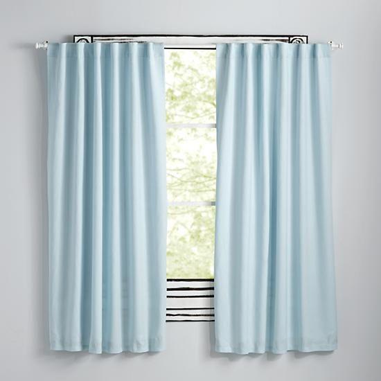 Marvelous Fresh Linen Light Blue Curtains
