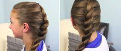 прическа коса-жгут (твист коса, коса веревка)