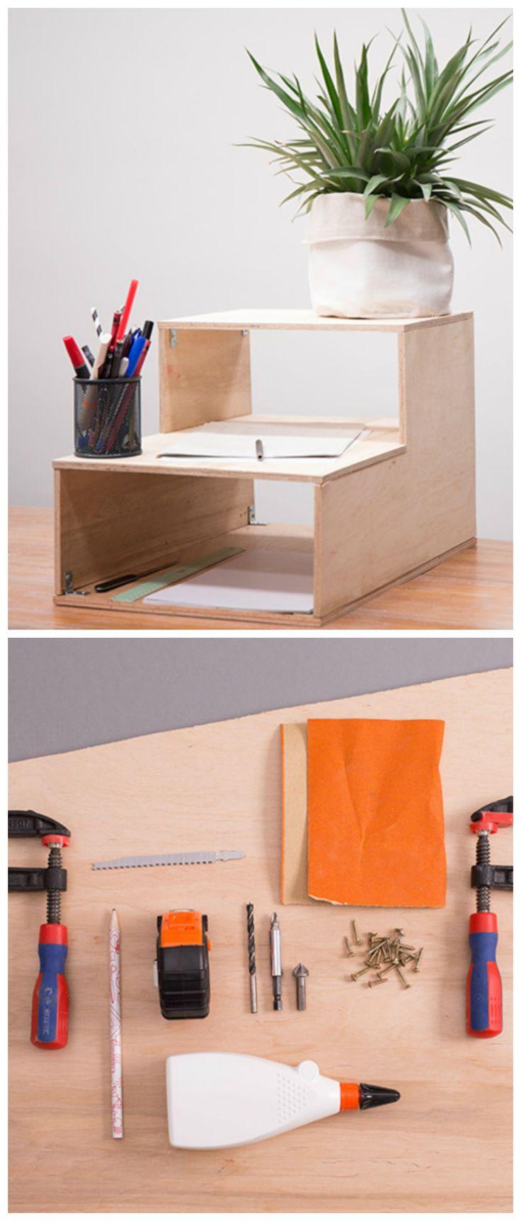 Ablage Für Den Schreibtisch Bauen, Mini  Regal Aus Holz / How To Build A