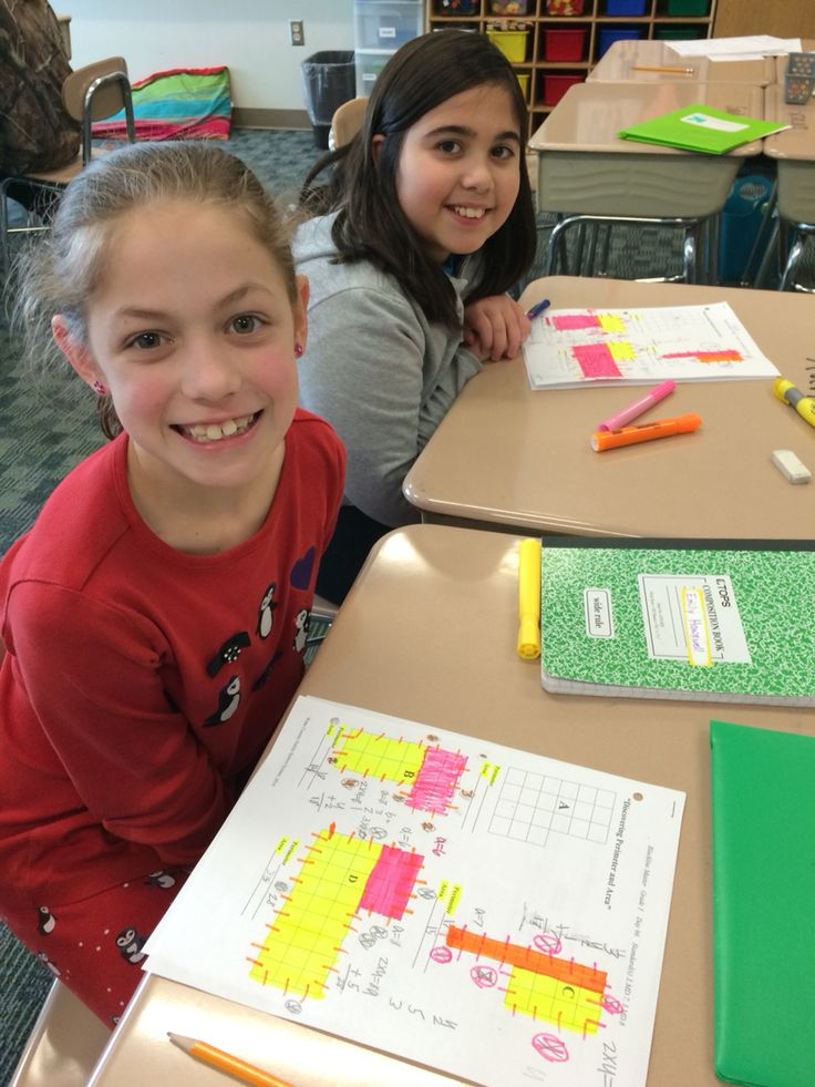Seeing math in color! Use highlighters to show how students can break apart complex shapes into simple shapes using the distributive property.