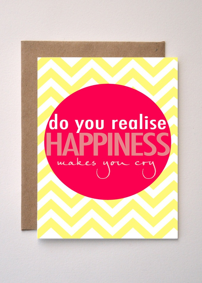 'Happiness' Valentines Day / Greeting Card