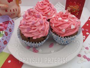 Walentynkowe muffinki.