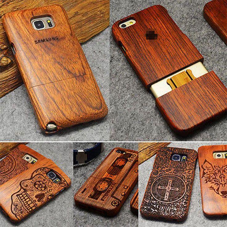 Ahşap telefon case için samsung galaxy note 3 4 5 s5 i9600 s6 s7 kenar artı kılıfları kapak fundas için iphone se 5 5 s 6 6 s 7 artı case